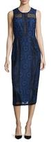 Rachel Roy Lace Paneled Midi Sheath Dress