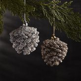 Crate & Barrel Mini Beaded Pinecone Ornaments