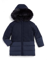 Armani Junior Girls' Contrast Puffer Coat - Little Kid, Big Kid