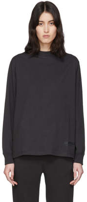 Essentials Black Reflective Logo Long Sleeve T-Shirt