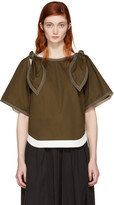 Chloé Brown Bow Sleeves Blouse