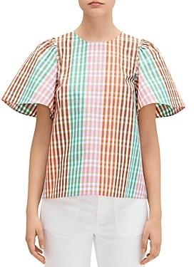 Kate Spade Rainbow Plaid Top