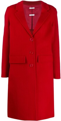 P.A.R.O.S.H. Single-Breasted Mid-Length Coat