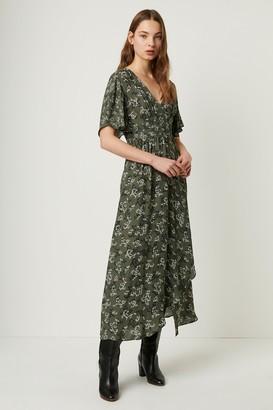 French Connenction Ansa Crepe Mix Print Maxi Dress