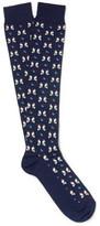 Etro Penguin-patterned Cotton-blend Socks - Navy