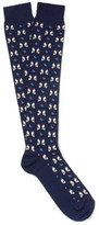 Etro Penguin-Patterned Cotton-Blend Socks