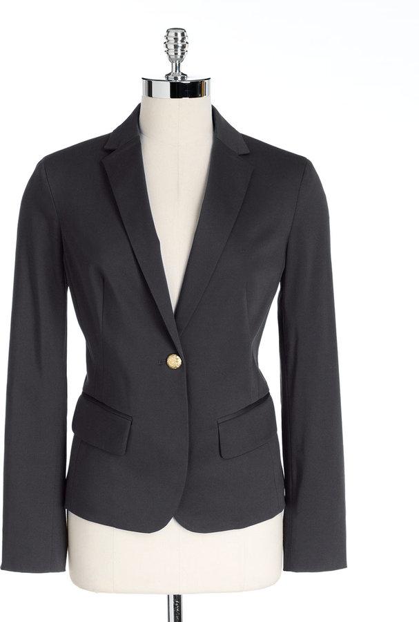 Jones New York Collection Plus-Size One-Button Blazer