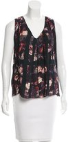 Thakoon Sleeveless Floral Print Top