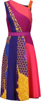 Peter Pilotto Torrent paneled wool-blend and crepe dress
