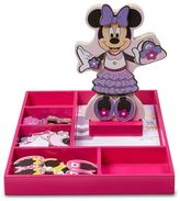 Melissa & Doug Disney Mickey Mouse & Friends Minnie Mouse Wooden Magnetic Dress-Up Doll by