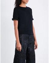 Noir Kei Ninomiya Braided-detail cotton T-shirt