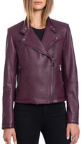 Bagatelle.City The Moto - Naked Lamb Quilted Moto Jacket