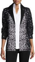 Misook Luxe Leopard-Print Jacket