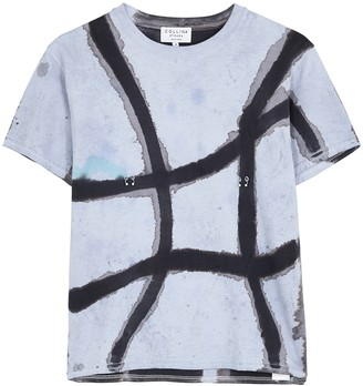 Collina Strada Tie-dyed pierced cotton T-shirt