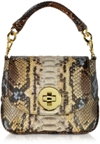 Ghibli Mini Python Crossbody Bag w/Detachable Shoulder Strap
