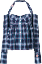 Natasha Zinko Plaid Halter Neck Top