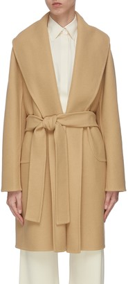 The Row 'Maddy' shawl collar belted wrap coat