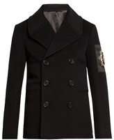 Alexander Mcqueen Embellished Wool And Cashmere-blend Pea Coat