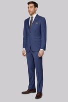 Moss Bros Tailored Fit Chambray Blue Suit