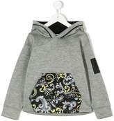 Versace printed detail hoodie