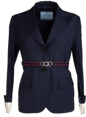 Prada Cuffed Tailored Blazer