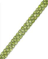 Macy's Peridot Three-Row Bracelet in Sterling Silver (25 ct. t.w.)
