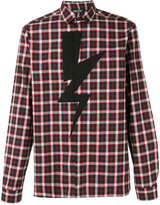 Neil Barrett Lightning Bolt check shirt - men - Cotton - 40