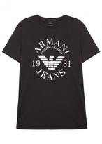 Armani Jeans Midnight Blue Logo Cotton T-shirt