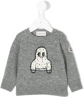 Moncler embroidered sweatshirt - kids - Acrylic/Polyester/Virgin Wool - 6-9 mth