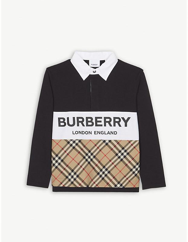 6e66ef710 Check Collar Polo Shirt Burberry - ShopStyle