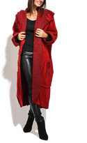 Everest Red Oversize Wool-Blend Peacoat - Plus Too