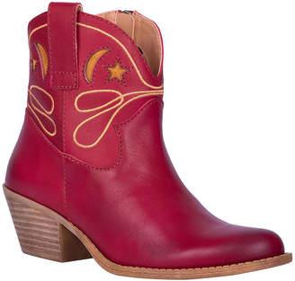 Dingo Womens Urban Cowgirl Booties Block Heel