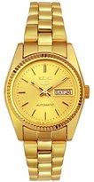 Seiko Women's SUAA86 Goldtone Automatic Day-Date Watch