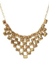 Gold Topaz Stone Statement Necklace