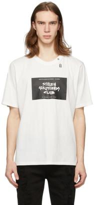 Stolen Girlfriends Club White Logo Stencil T-Shirt
