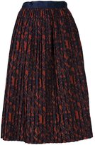 Roberto Collina semi sheer pleated skirt