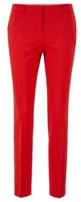 HUGO BOSS Regular Fit Pants In Italian Stretch Virgin Wool - Red
