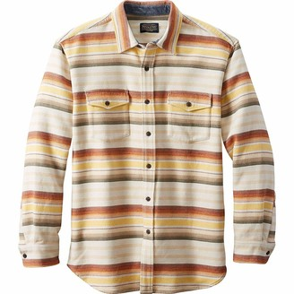 Pendleton Men's Long Sleeve Button Front Beach Shirt
