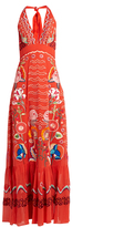 Temperley London Chimera embroidered silk-georgette dress