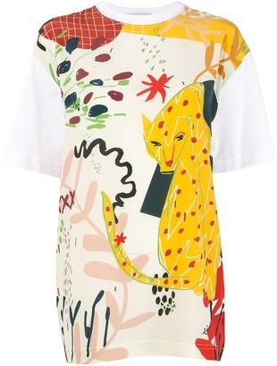 Ports 1961 leopard-print T-shirt