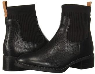 Kenneth Cole Gentle Souls By Gentle Souls by Best Chelsea Bootie (Black Leather) Women's Shoes