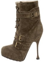 Brian Atwood Suede Platform Boots