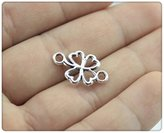 Nobrand No brand 15pcs 20*12mm Antique Silver Plated clover connector Charms
