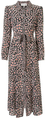 Saloni Spotted Print Shirt Dress