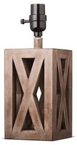 Threshold Washed Wood Box Lamp Base Small
