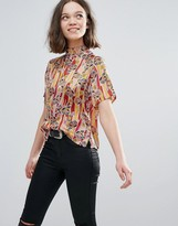 Glamorous Floral Short Sleeve Top
