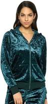 Jezebel Women's Pajamas: Flora Crushed Velvet Hoodie