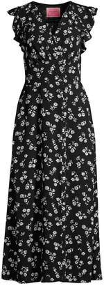 Kate Spade Nerissa Dandelion Floral Ruffle Dress