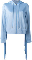 Love Moschino zip knit hoodie - women - Cotton/Polyester - 40