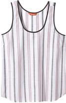 Joe Fresh Women's Stripe Tank, White (Size M)